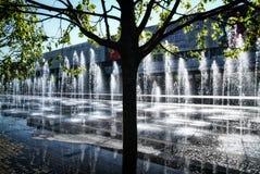在克里米亚半岛堤防的一个喷泉在春天 库存图片