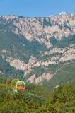 在克里米亚半岛山的山横向 免版税库存照片