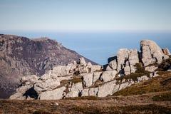 在克里米亚半岛山的春天 免版税库存图片