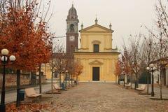 在克雷莫纳,意大利附近的乡下 免版税库存图片