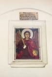 在入口上的象对教会Dryanovo修道院在保加利亚 库存图片