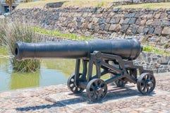 在入口的大炮对好希望城堡  库存照片