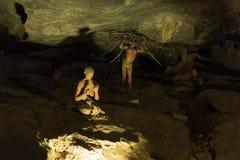 在入口的显示对Cango洞 库存图片