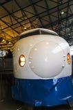在全国交通博物馆的日本高速火车在约克,约克夏英国 库存照片