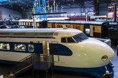 在全国交通博物馆的日本高速火车在约克,约克夏英国 库存图片