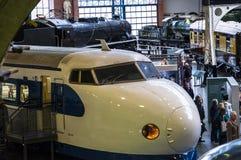 在全国交通博物馆的日本高速火车在约克,约克夏英国 免版税库存照片