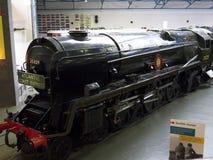 在全国交通博物馆的火车在约克,约克夏英国 图库摄影