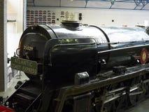 在全国交通博物馆的火车在约克,约克夏英国 库存照片