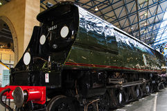 在全国交通博物馆的火车在约克,约克夏英国 免版税库存图片