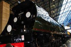 在全国交通博物馆的火车在约克,约克夏英国 免版税库存照片