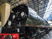 在全国交通博物馆的火车展览在约克,约克夏英国 免版税库存照片