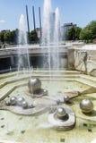 在全国劳动人民文化宫前面的喷泉,索非亚,保加利亚 库存照片