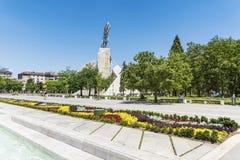 在全国劳动人民文化宫前面的庭院,索非亚,保加利亚 库存照片