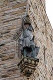 在全国华莱士纪念碑的威廉・华莱士雕象在Stirl 免版税库存照片
