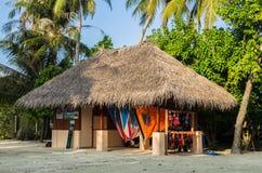 在全国样式的潜水俱乐部 马尔代夫,印度洋, Kaafu环礁, Kuda Huraa海岛 库存照片
