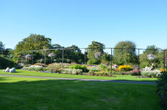 在全国植物园的小庭院部分在都伯林,爱尔兰 库存照片