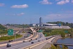 在全国港口,马里兰,美国的高速公路网络 免版税图库摄影