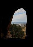 在全国自然公园陷下在海法,以色列附近 免版税库存图片