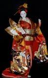 在全国衣裳的日本玩偶 库存照片