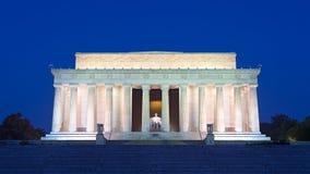 在全国购物中心的林肯纪念堂,华盛顿特区 图库摄影