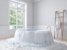在全新的公寓的洪水 3d翻译 免版税图库摄影