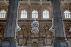 在全部Chowmahalla宫殿的王位 免版税库存图片