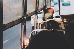 在公共汽车的生活 库存照片