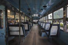 在公共汽车第104的看法在曼谷,泰国 免版税库存照片
