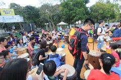 在公园事件的狂欢节艺术在香港2015年 免版税库存图片
