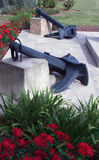 在公园停住纪念碑在帕尔马马略卡(马略卡)港口 免版税库存图片
