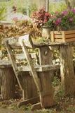 在公园把椅子换下场在庭院里 图库摄影
