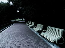 在公园的秋天天 免版税库存照片