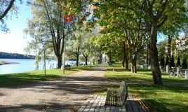 在公园的晴天 免版税库存照片
