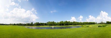 在公园空白夏天的结构树的云彩 图库摄影