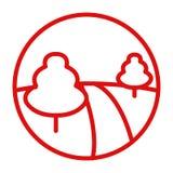 在公园象的道路 免版税库存图片