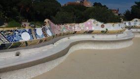 在公园GÃ ¼侧房的长凳 免版税库存照片