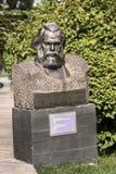 在公园Muzeon,花岗岩雕刻卡尔・马克思的画象 19世纪40年代 Merkurov 库存照片