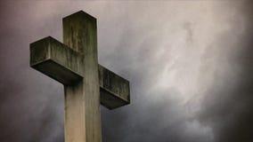 在公墓的十字架 影视素材