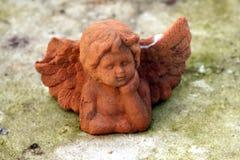 在公墓的天使 库存照片