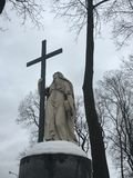 在公墓的纪念碑 图库摄影
