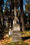 在公墓的老理葬 库存图片