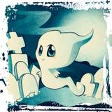 在公墓的逗人喜爱的鬼魂 库存例证