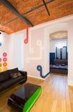 在公寓里面的被设计的墙壁 免版税库存图片