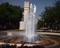 在公平的公园的喷泉 库存图片