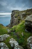 在公平的顶头足迹附近的风景在北爱尔兰,英国 免版税库存图片