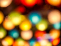 在公开夜广场弄脏彩虹日本灯内部室内 库存图片