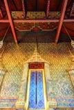 在公开皇家寺庙里面的艺术品 图库摄影