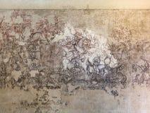 在公爵的故宫博物院的中世纪壁画在曼托瓦 库存图片