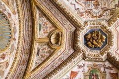 在公爵的故宫博物院的天花板装饰品在曼托瓦 库存图片