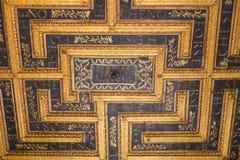在公爵的故宫博物院的天花板装饰在曼托瓦 免版税库存照片